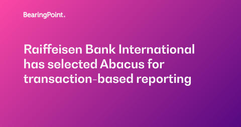 Raiffeisen Bank International selects Abacus for transaction-based reporting