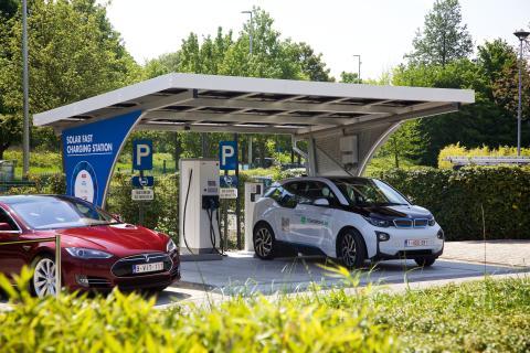 Solar Fast Charging Station