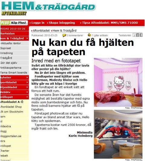 Även små företag får publicitet i dagstidningarna