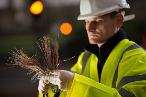 Openreach fibre engineer
