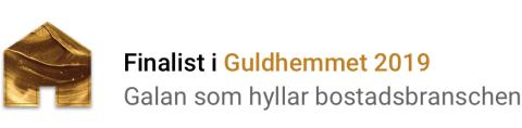 Våningen & Villan Nybyggt finalist i Årets Kontor i GULDHEMMET!