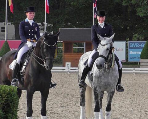 Therese Nilshagen och Anna Blomgren till 4-årsfinalen i dressyr på Elmia Scandinavian Horse Show