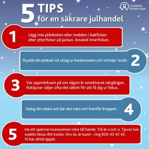 5 tips för en säkrare julhandel