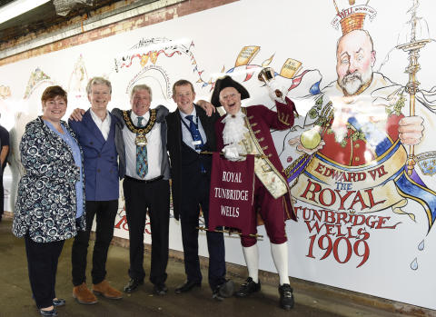 New mural takes pride of place at Tunbridge Wells station