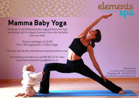 Mamma baby yoga på Elements spa