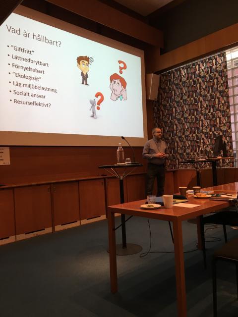 Frukostseminarium om miljövänlig städning - Greger Lundqvist