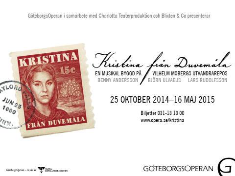 Premiär för Kristina från Duvemåla på GöteborgsOperan