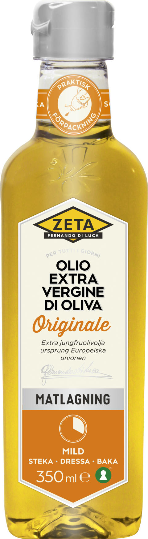 Ny klämbar olivoljeflaska från Zeta