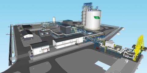 Schneider Electric toimittaa digitaaliset ratkaisut Haminan LNG-terminaalin sähköistykseen. Kuva: Haminan Energia