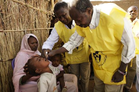 Alla små barn i Sudan vaccineras mot polio