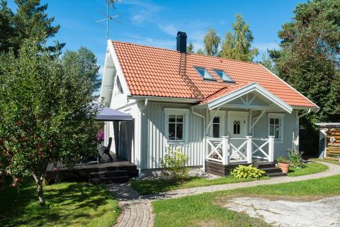 Hus målat med Beckers Perfekt Akrylat Plus, Happy Homes