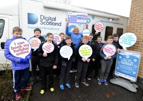 Shotts pupils get a lesson with fibre broadband