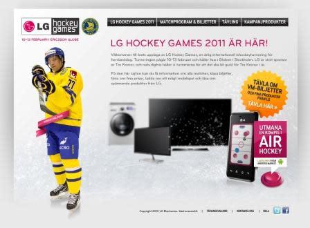 Upplev LG:s senaste produkter under årets upplaga av LG Hockey Games
