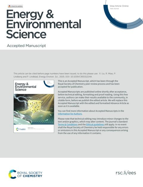 Modular Engineering for Photosynthetic 1-Butanol Production in Cyanobacteria publiceras i Energy & Environmental Science, doi.org/10.1039/C9EE01214A