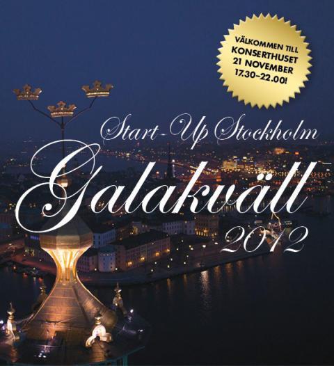 Biljettsläpp till Start-Up Stockholms Galakväll 2012