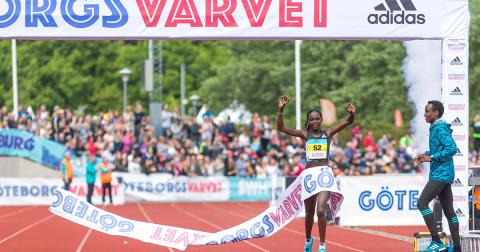 Viola Jepchumba - banrekord i GöteborgsVarvet