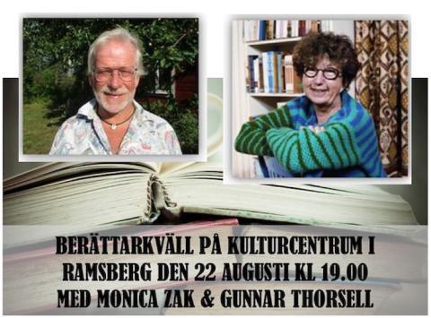 Berättarkväll i Ramsberg med Monica Zak och Gunnar Thorsell
