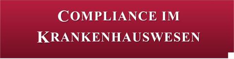 1. Symposium Compliance im Krankenhauswesen