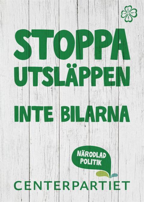 Affisch bilutsläpp