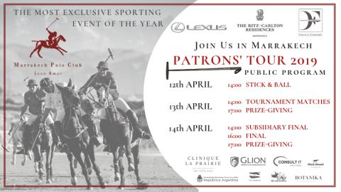 WELCOME TO MARRAKECH POLO CLUB JNAN AMAR - PATRONS' TOUR, 12-14 APRIL