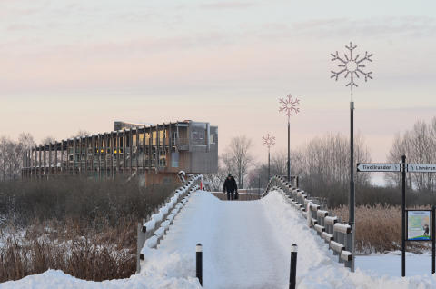 Naturum Visitor Centre in wintertime