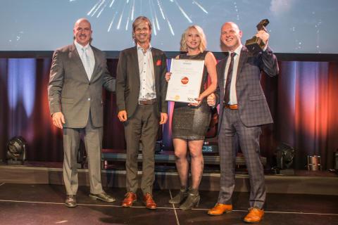 """Best i Åpen Klasse: Sartor Storsenter vant kjøpesenterpris for kampanjen ''Pådriver for innovasjon og gründervirksomhet""""."""
