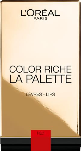 L'Oréal Paris Color Riche Lip Palette, rouge