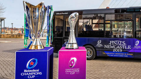 European rugby finals weekend in Newcastle