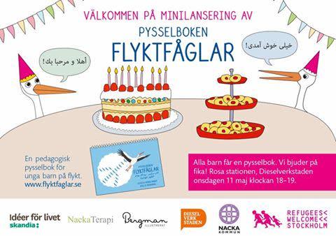 Pysselboken Flyktfåglar hjälper barn på  flykt att bearbeta svåra upplevelser