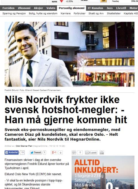 Nils Nordvik frykter ikke svensk hotshot-megler: - Han må gjerne komme hit