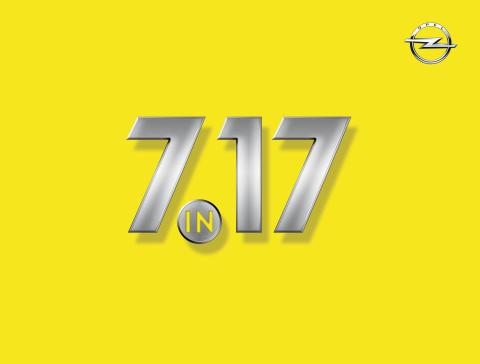 """""""7 under 17"""": Sju nya modeller från Opel 2017"""