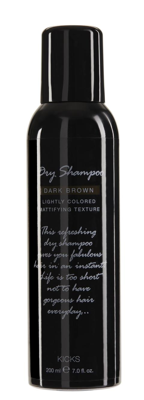 KICKS Dry Shampoo Dark Brown 200ml