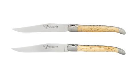 Laguiole - Knivset 2 delar björk, rostfri matt