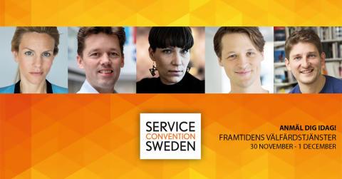 Vass uppställning av föreläsare vid Service Convention Sweden 2016 i Karlstad