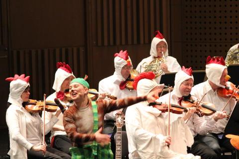 Föreställningsbild Pettson & Findus och Gävle Symfoniorkester
