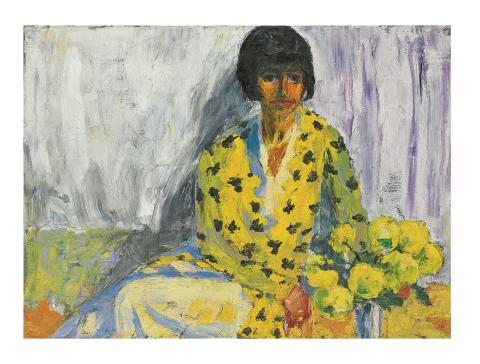 Emil Nolde, Frauenbildnis (T), Gemälde 1930, © Nolde Stiftung Seebüll.