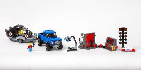 LEGO Speed Champions Ford F-150 Raptor och A-Ford hot rod