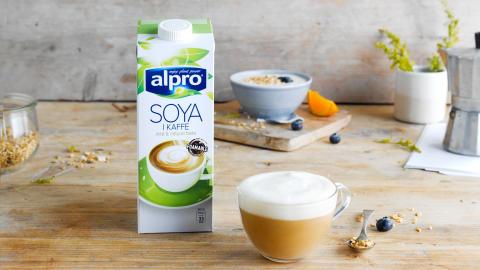 NYHET FRA ALPRO: Soyadrikk spesielt utviklet for kaffe
