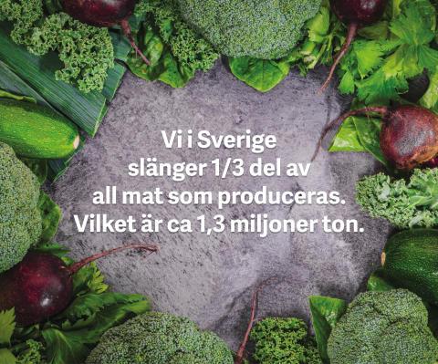 Gemensam insats för att minska matsvinnet i Sverige