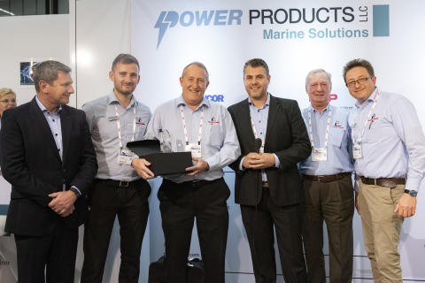 The Fischer Panda UK team receives the Mastervolt Distributor of the Year Award 2018 for Highest Overall Growth