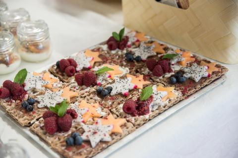 Dessert med Lantknäcke