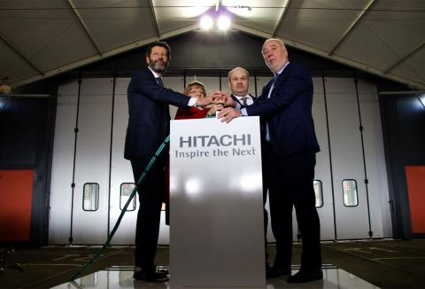 Hitachi and GWR unveil first Pistoia-built train