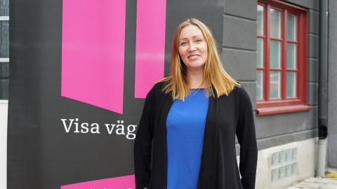 Sophie Pasanen i Sundsvall på prisutdelningen för Visa vägen-priset