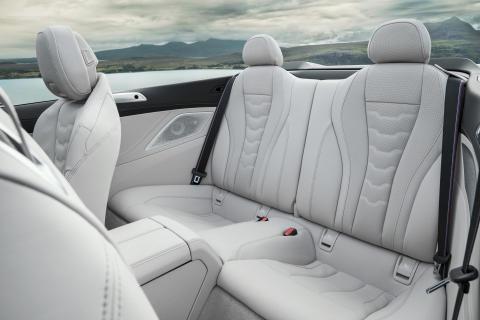 BMW 8-sarjan Cabrio, takaistuimet