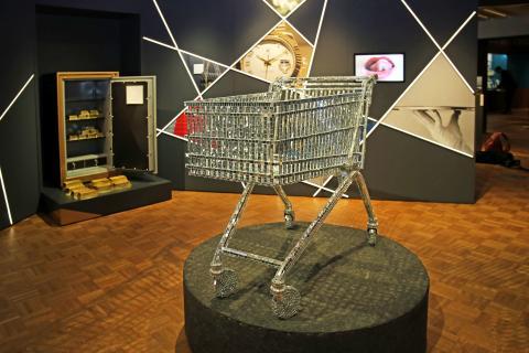 Einkaufswagen Disko im Zeitgeschichtlichen Forum