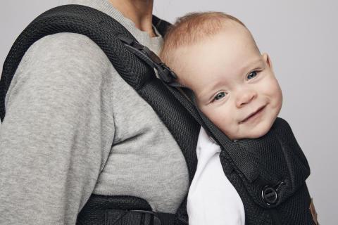 Omni Black Matte happy baby detail