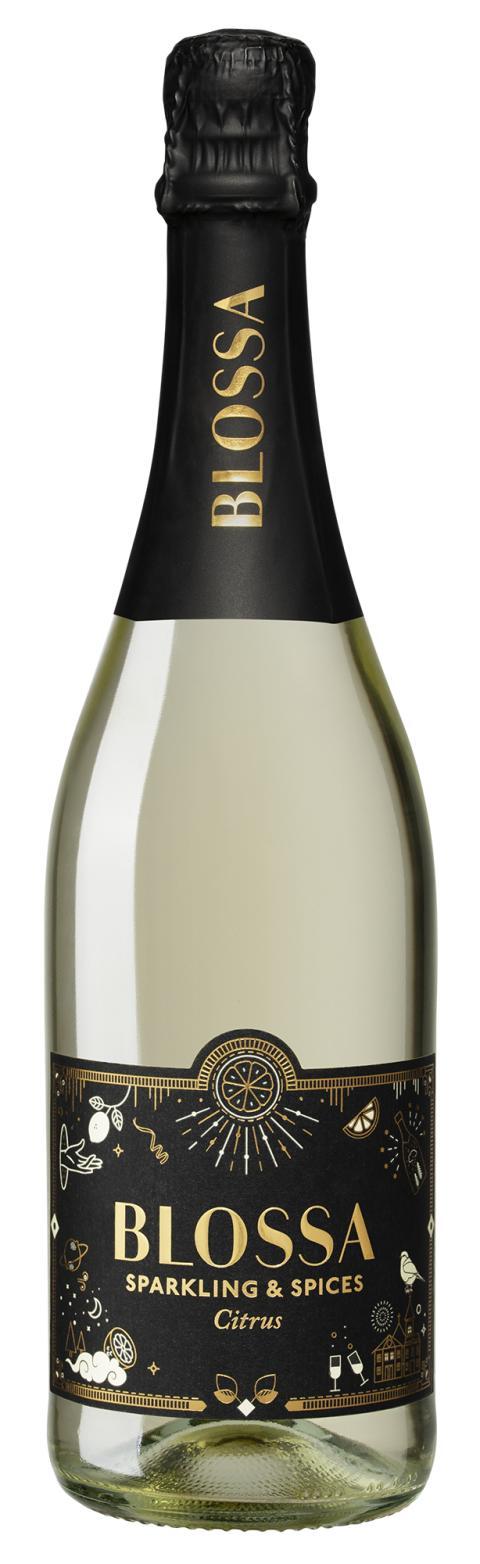 BLOSSA Sparkling & Spices, flaskbild