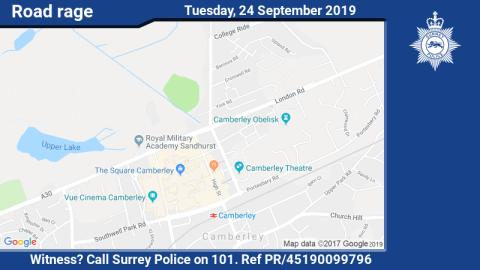 Witness appeal after man threatened with imitation firearm on A30 in Camberley