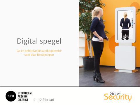 Digital spegel visas på modemässa