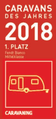 """Die Caravans des Jahres 2018: Fendt-Caravan: """"3x die Nr. 1"""""""